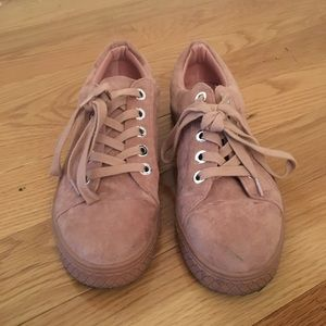 Topshop Lace up trainers in Pink